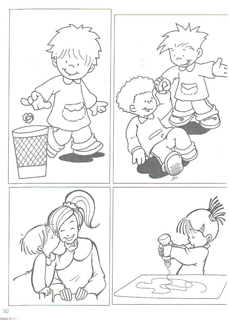 Resultado De Imagen Para Normas De Convivencia En El Hogar Escuela Para Colorear Starting School Cause And Effect Activities Kids Study