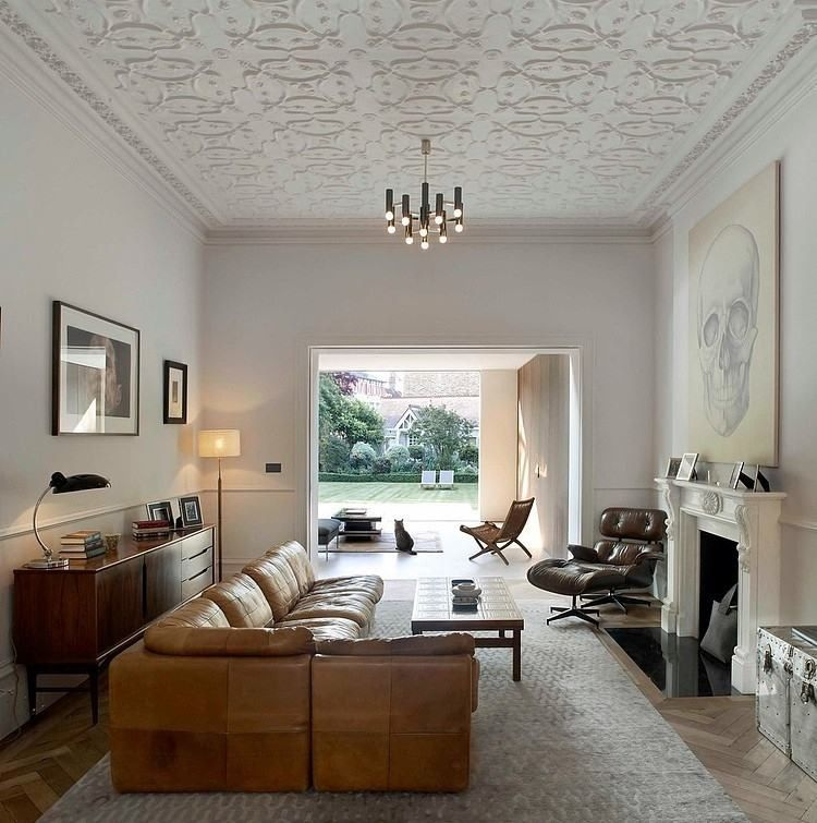 living room ideas with leather furniture%0A Room    Modern Living RoomsTransitional