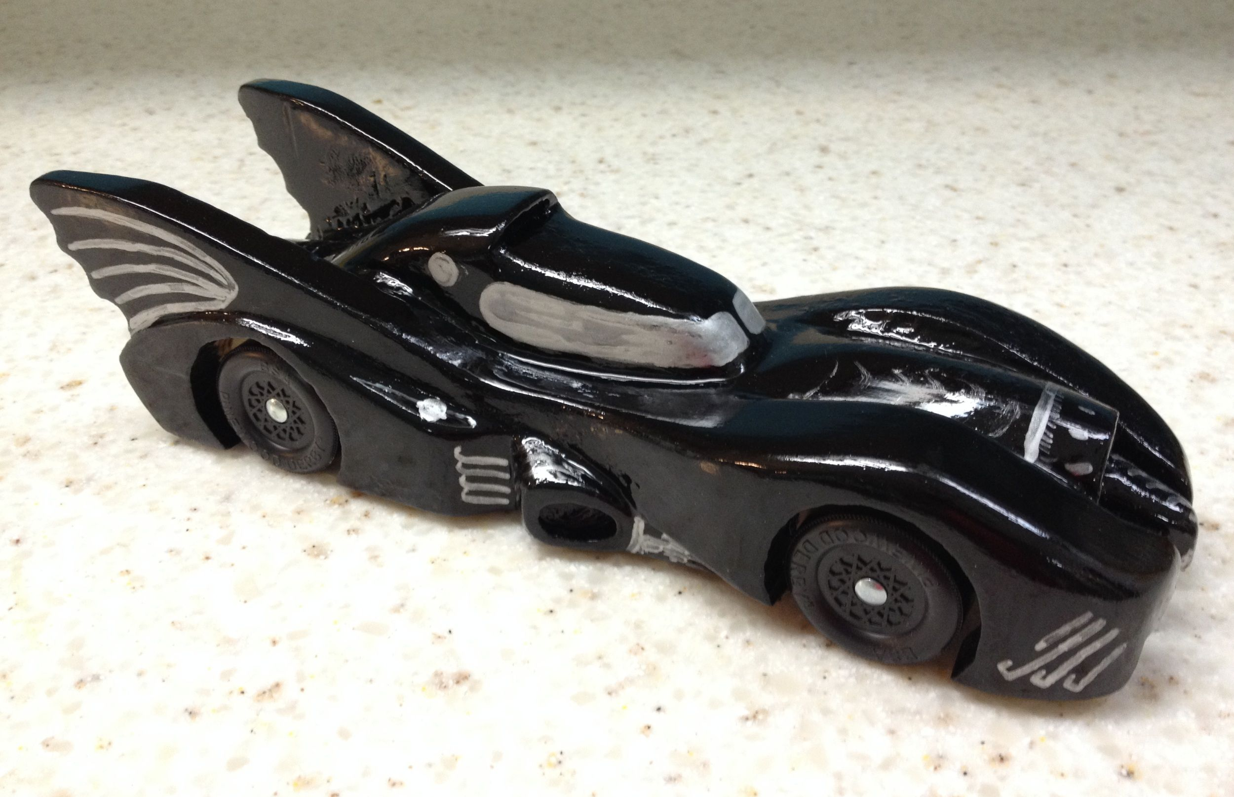 How To Build An Awesome Batmobile Pinewood Derby Car Kurt S Blog
