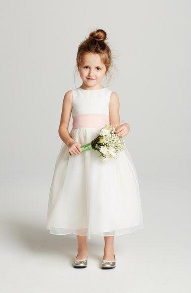 ba2ddda65d3 Us Angels Ivory Organza Dress with Sash (Toddler Girls