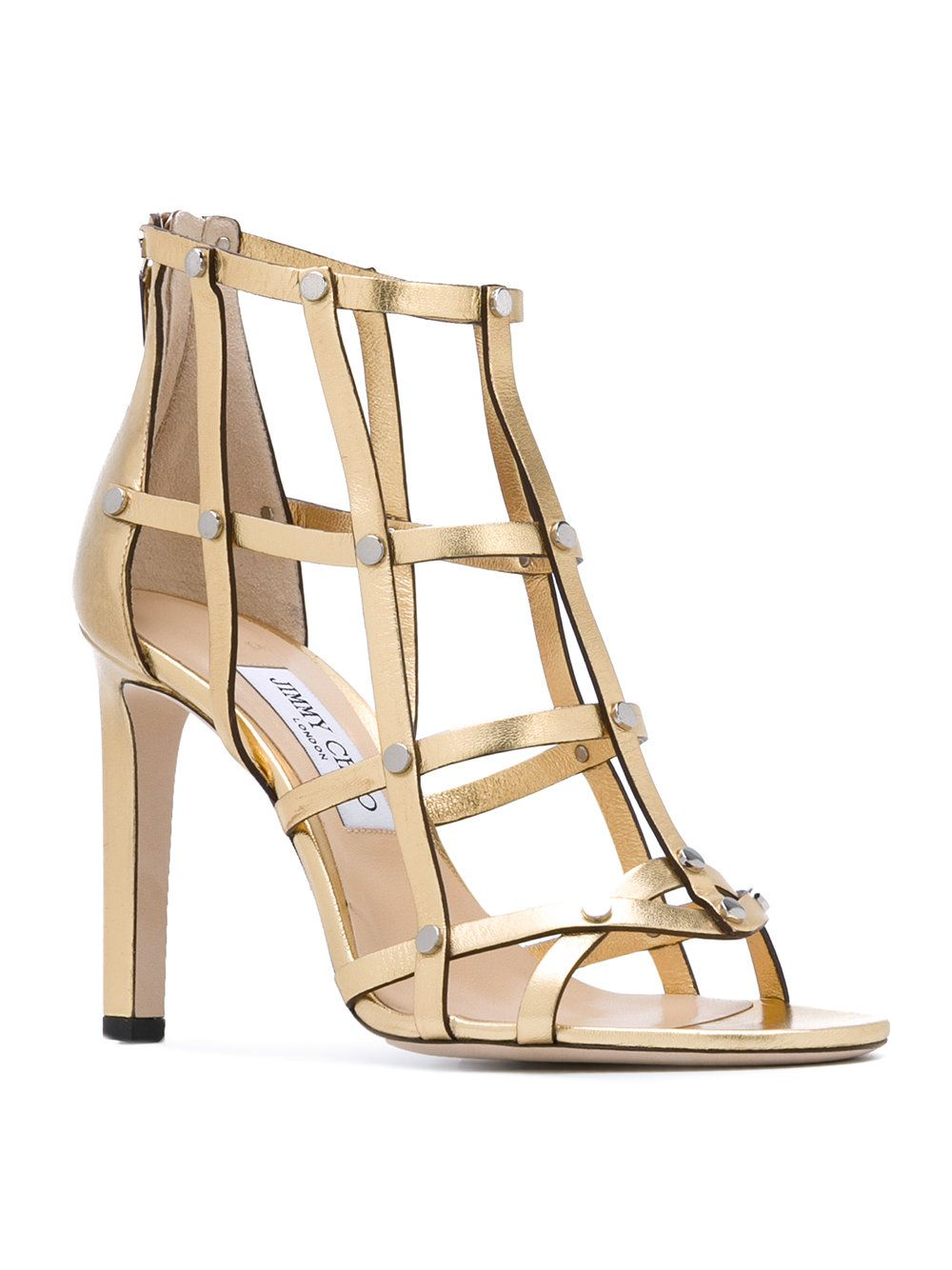 f72ef5de8ae2 Jimmy Choo  Tina  studded cage sandals