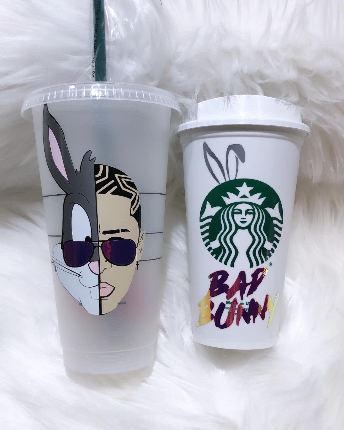 Bad Bunny Inspired Tumblers El Nino Malo Tumbler Bad Bunny Etsy In 2020 Personalized Starbucks Cup Custom Starbucks Cup Coffee Cup Design