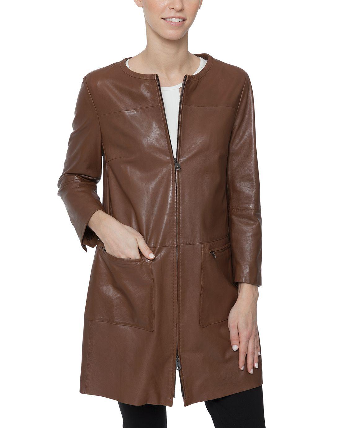 Giorgio Leather Coat   Weekend MaxMara   Halsbrook   Fashion ...