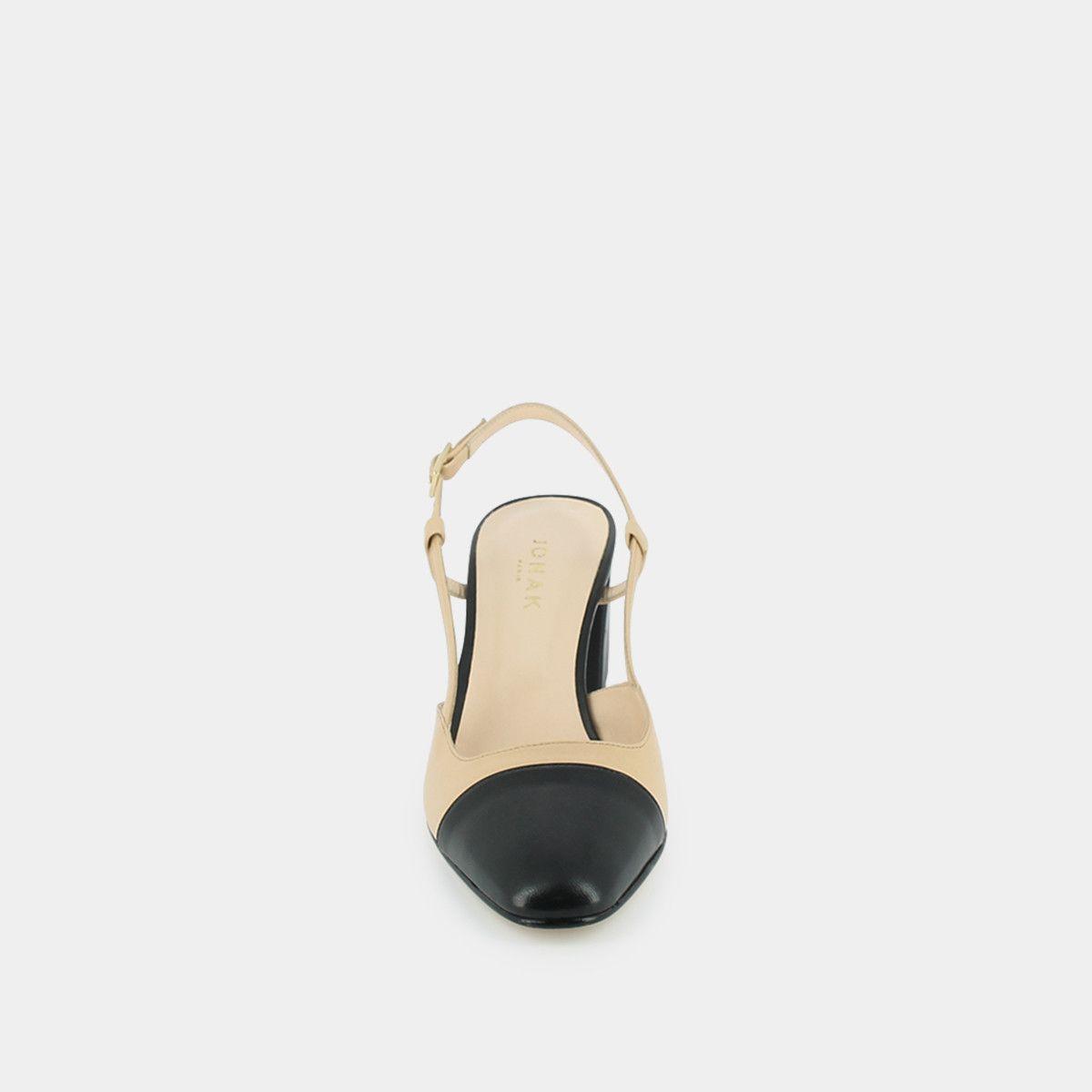 Mocassins Chaussures Femme Cuir Ecru En Talon Haut Jonak