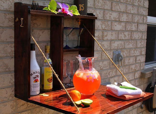 Photo of Construct this simple bar for outside entertaining.