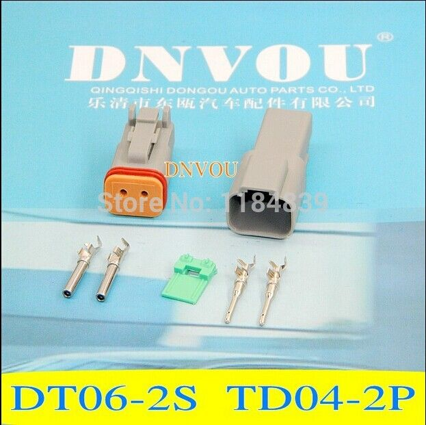 2 sets Kit 2 Pin way Waterproof Electrical Wire Connector Plug ...