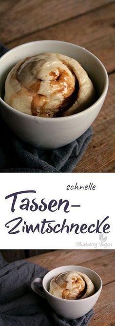 Schnelle Tassen-Zimtschnecke Recipe Kuchen, Food and drink and - schnelle vegane küche