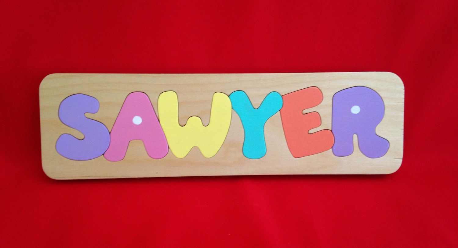 Personalized baby gift puzzle great first birthday or baby shower personalized baby gift puzzle great first birthday or baby shower gift for boy or girl teach your child their name usd by papaspuzzleshop negle Image collections