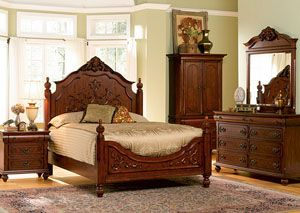 isabella oak california king bed carving dresser mirror chest rh pinterest com