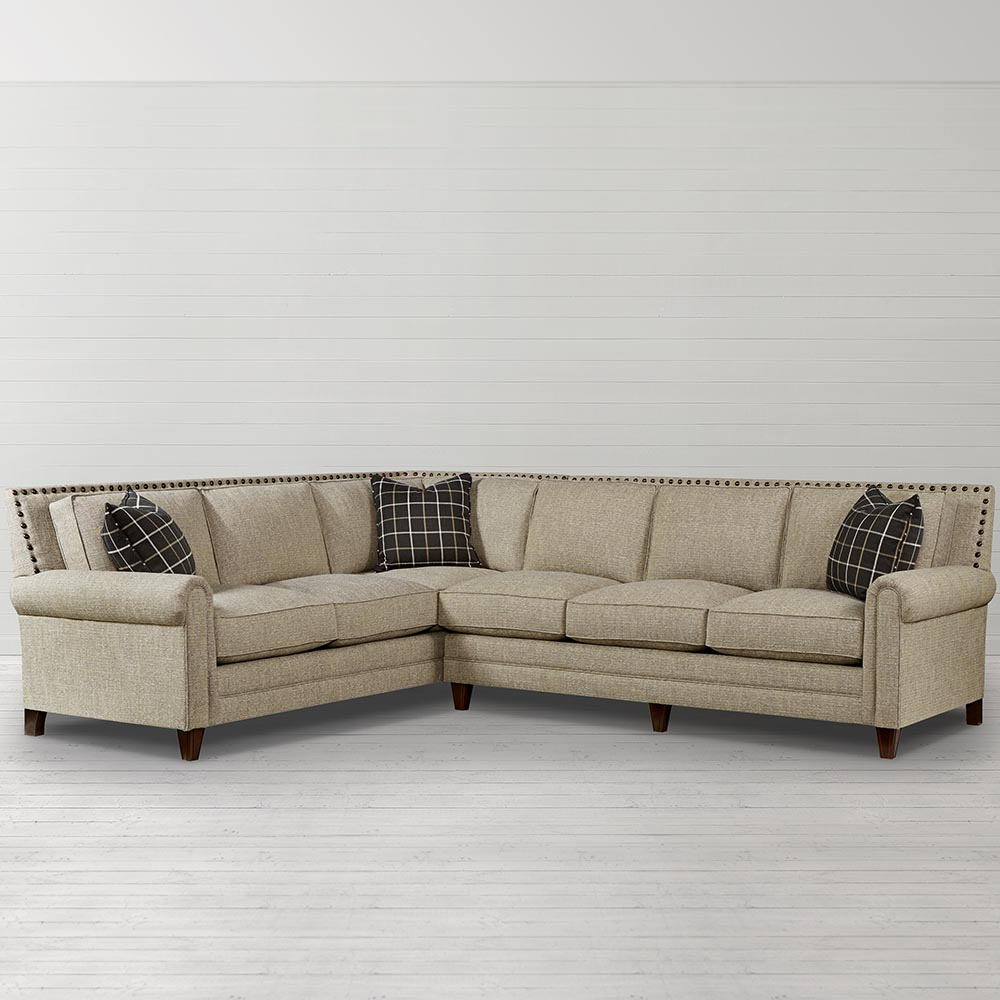 Delightful Harlan Large L Shaped Sectional