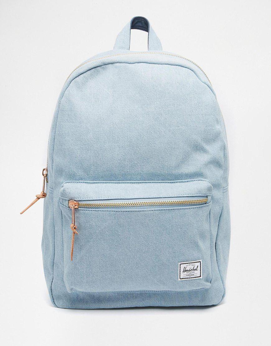 de265cfb5073 Herschel Settlement Canvas Backpack - Blue