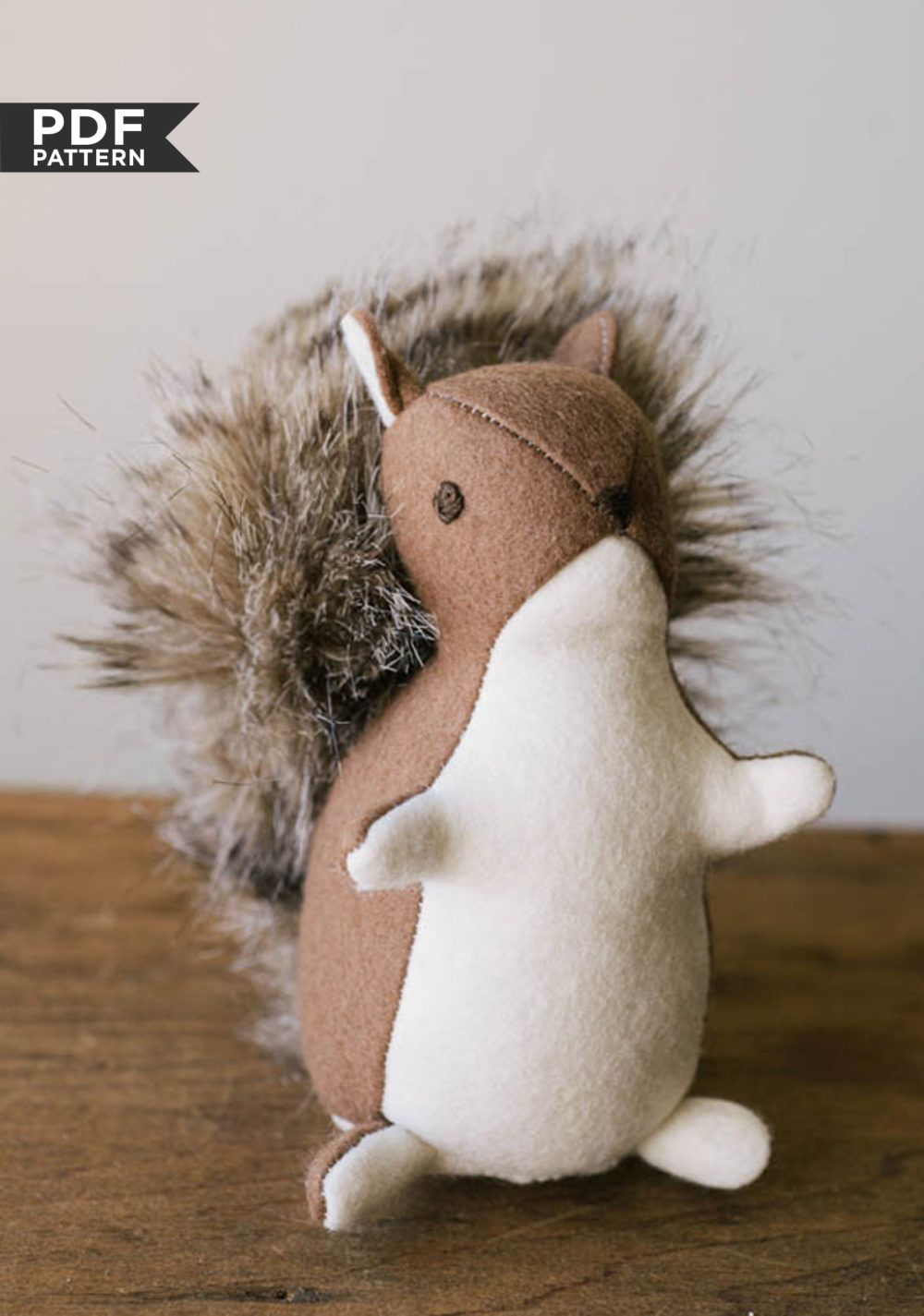 Squirrel Stuffed Toy Sewing Stuffed Animals Diy Sewing Projects Sewing Toys [ 1425 x 1000 Pixel ]