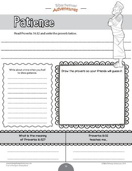 Patience Fruit Of The Spirit Activity Book Amp Lesson Plan