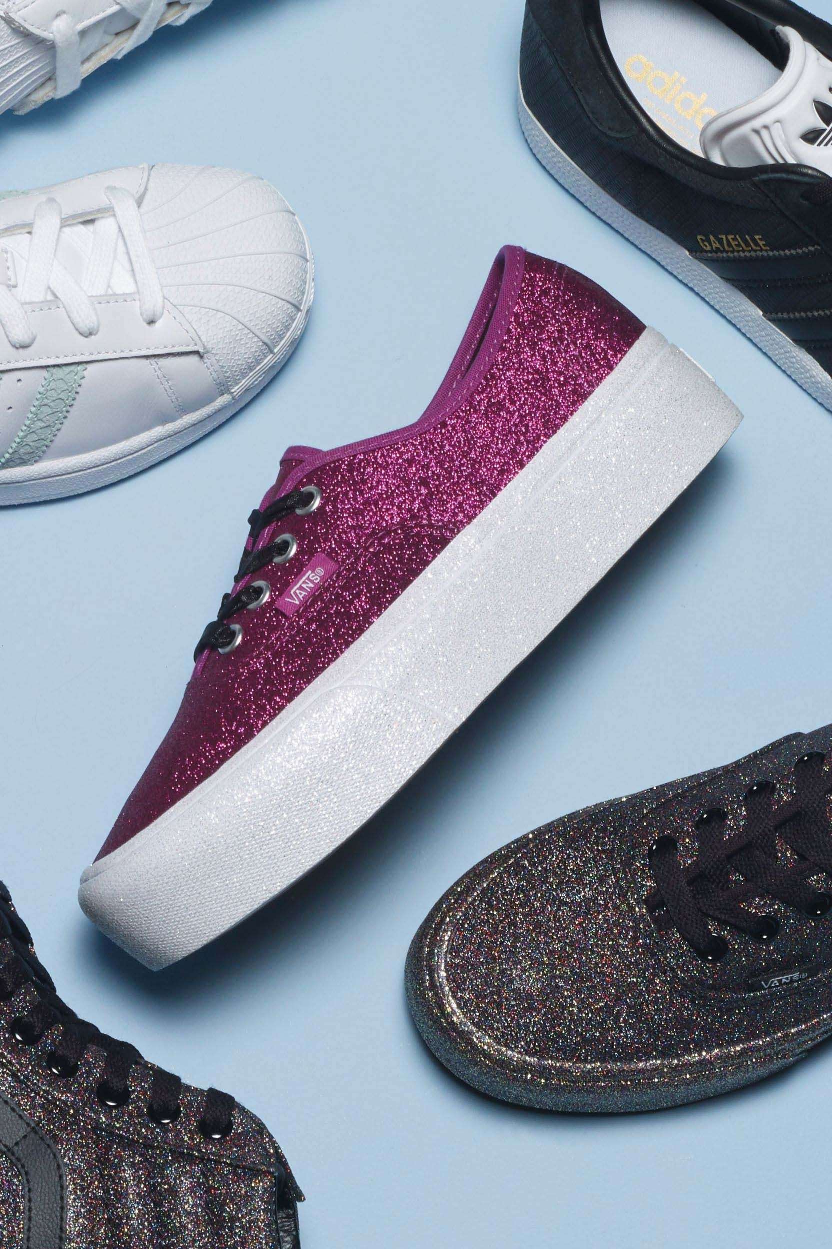 vans old skool glitter damen