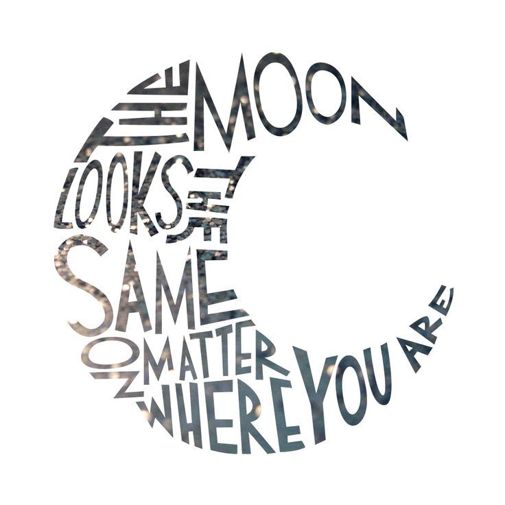 printable poster the moon travel hand lettering art print h