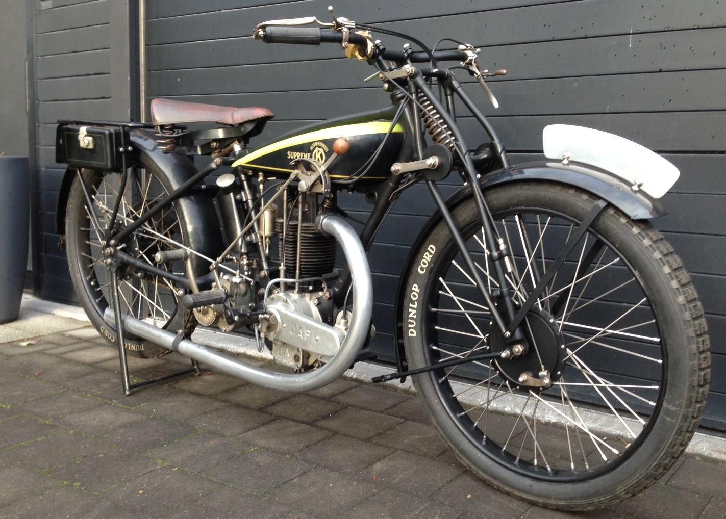 1927 OK Supreme - 350cc OHV JAP engine. | JAP | Pinterest | Supreme ...