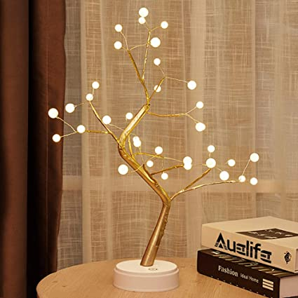 Amazon Com 20 Tabletop Bonsai Tree Light With 36 Pearls Led Diy Artificial Light Tree Lamp Decoration For Gift Home Wedding Festiv In 2020 Tree Lamp Lamp Decor Lamp