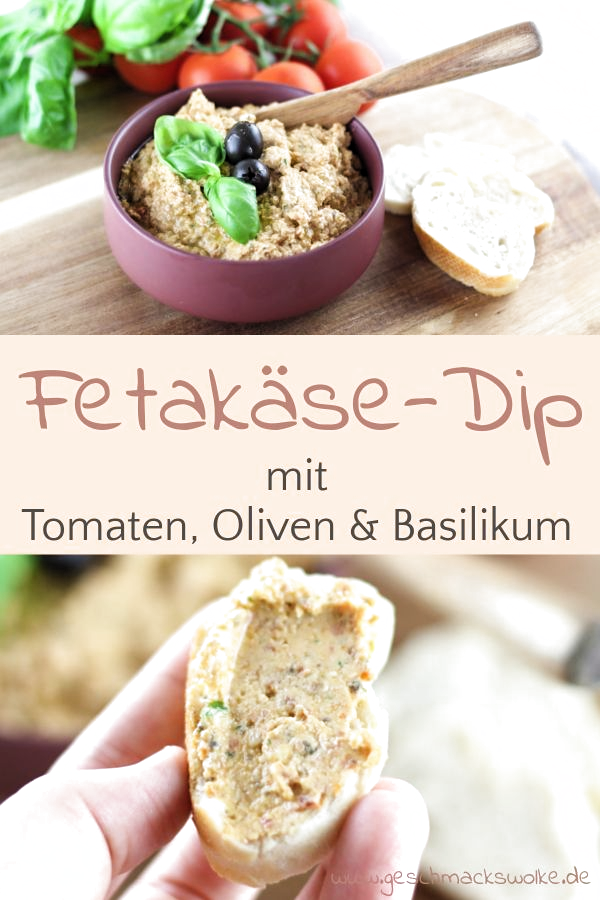 Mediterraner Tomaten-Feta-Dip mit Oliven - #dips #dip #fetadip #tomatenfetadip #tomatendip #grillen #aufstrich #mediterran #grillrezept #oliven #fetakäse