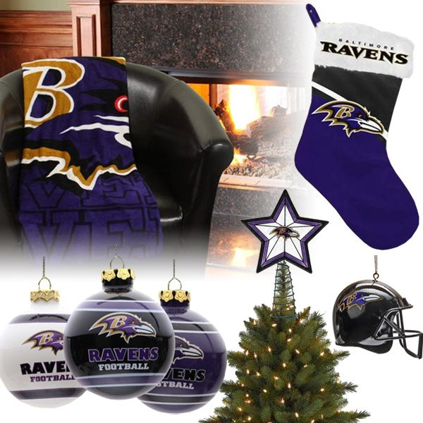 Baltimore Ravens Christmas Ornaments, Stocking, Tree Topper, Blanket ...