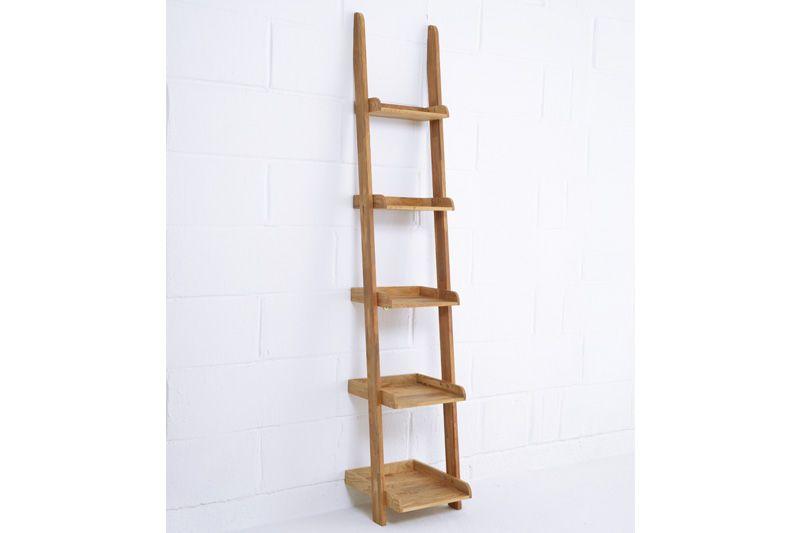 quality design 01cdc 7495e Natural Oak Ladder Shelves slim narrow | Futon Company ...