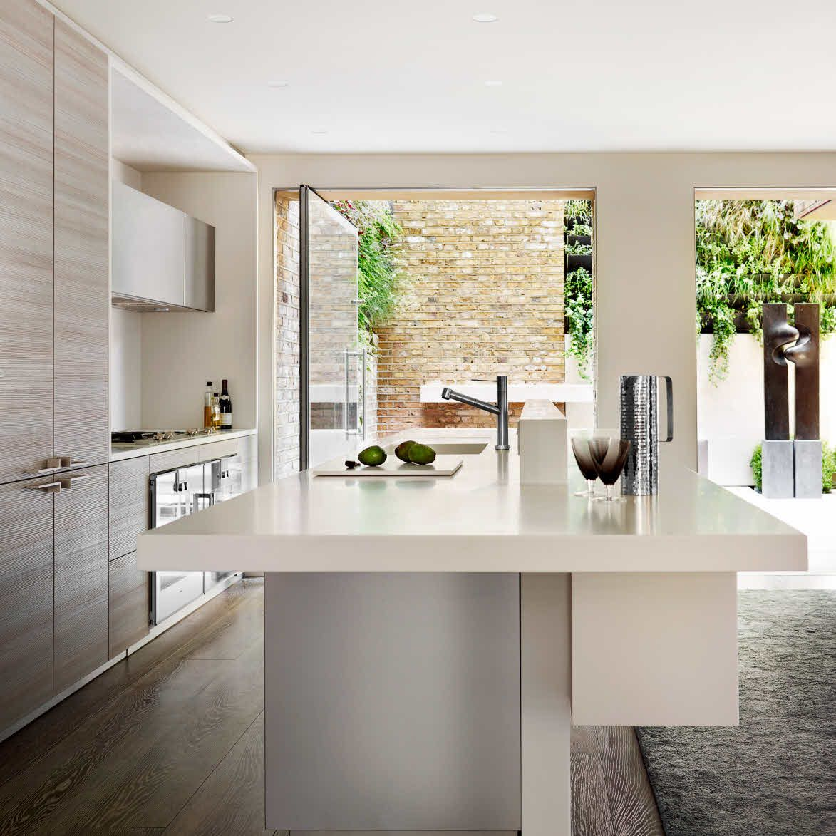 Poggenpohl open plan kitchen and dining room connected
