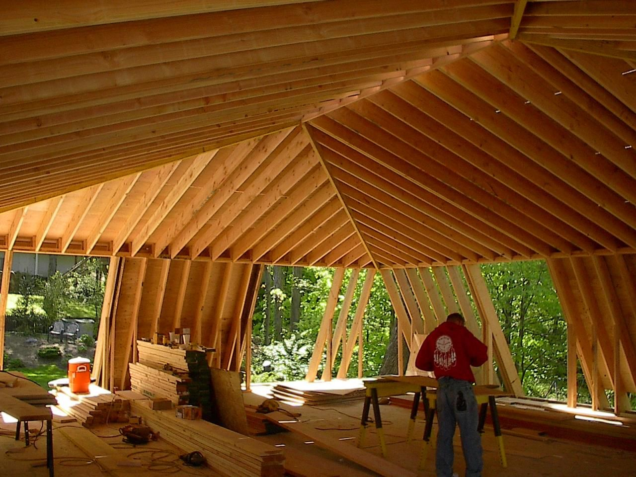mansard roof framing images