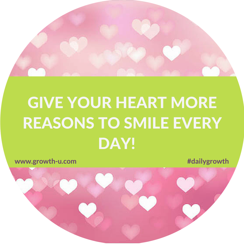 Give your heart more reasons to smile ever day! #heart #smile #inspire #motivate