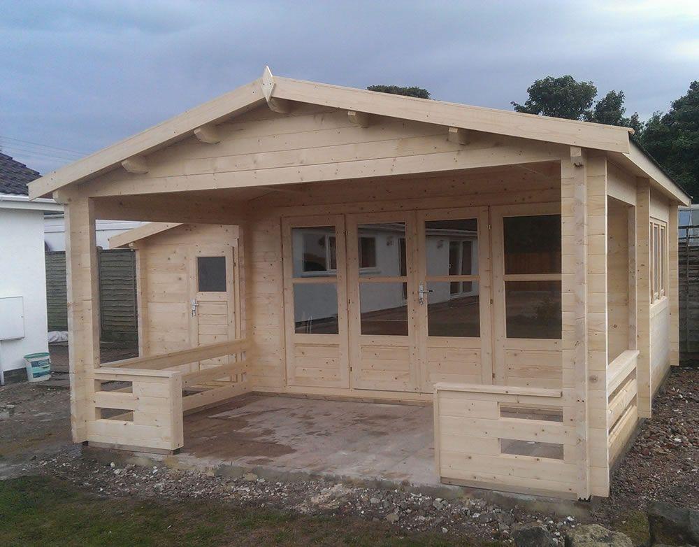 shed half summerhouse canopy Google Search inga Shed