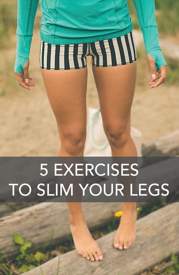 5 Exercises to Slim Your Legs @PTrainerFood