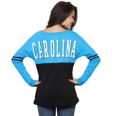 Women s Carolina Panthers 5th   Ocean by New Era Black Baby Jersey Spirit  Top Long Sleeve T-Shirt 490407b0e