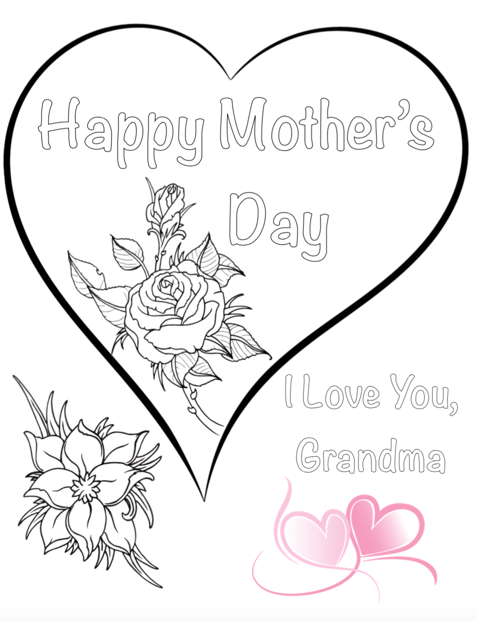 Free Printable Mother S Day Coloring Pages 4 Designs Mothers Day Coloring Pages Coloring Pages Free Printable Coloring Pages