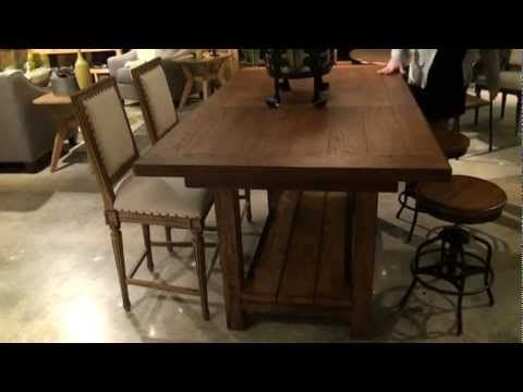 Great Rooms Tasting Rectangular Trestle Counter Height Dining Table By  Universal Furniture
