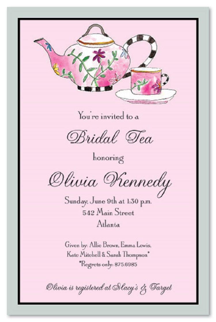 Bridal Tea Party Invitation Wording Ideas