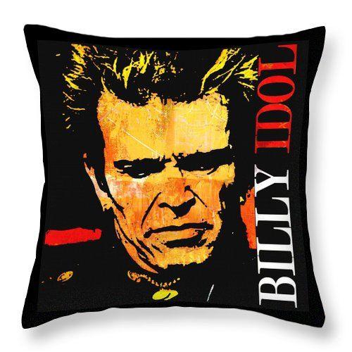 William Michael Albert Broad Throw Pillow featuring the painting Billy Idol 2 by Otis Porritt