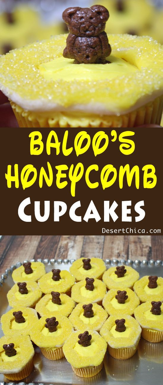 Baloos honeycomb jungle book cupcakes honeycombs deserts and baloos honeycomb obsession is the perfect inspiration for these easy jungle book cupcakes you can even let the kids help you make them forumfinder Images
