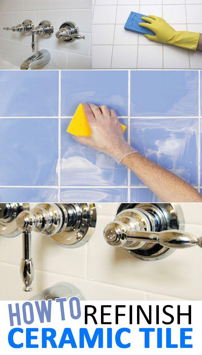 How To Refinish Ceramic Tile Money Hacks Paint Ceramic Tiles And