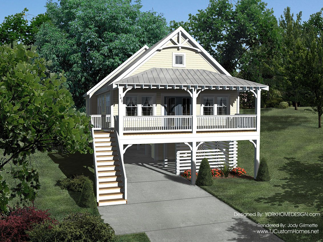 Waterfront out of bank foreclosure key west style Beach cottage design plans