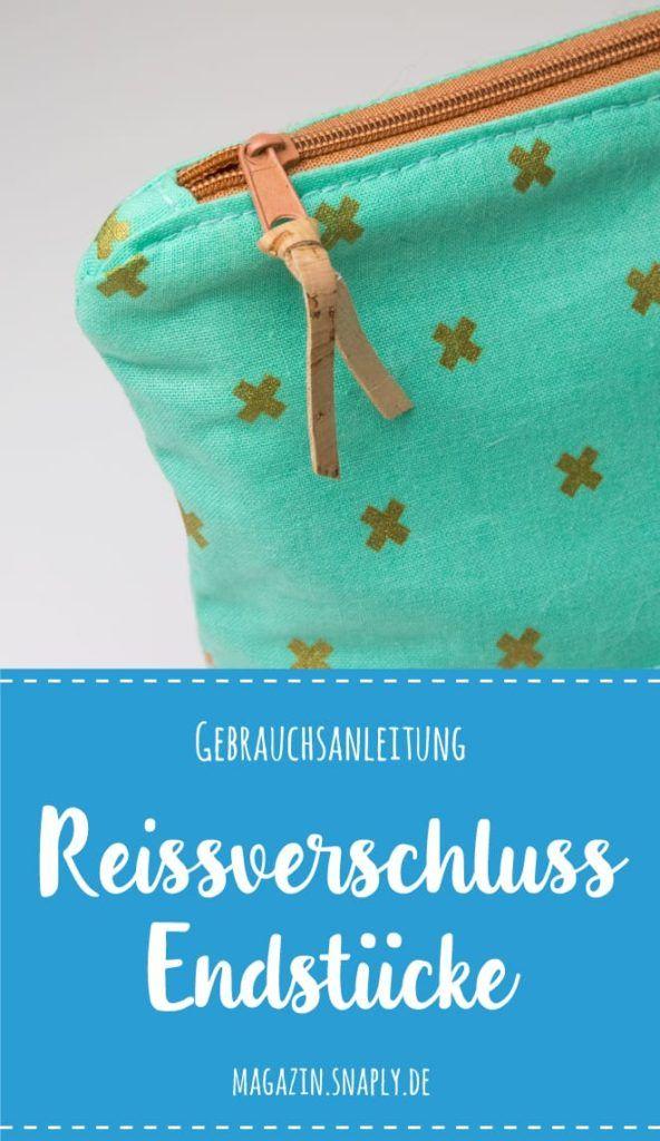 Bordure zippée sans fin avec embouts en tissu – Instructions | Magazine Snaply   – Tipp und Tricks