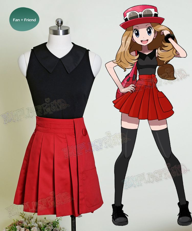 Pokémon Cosplay Serena Costume Blouse & Skirt | Cosplay ...