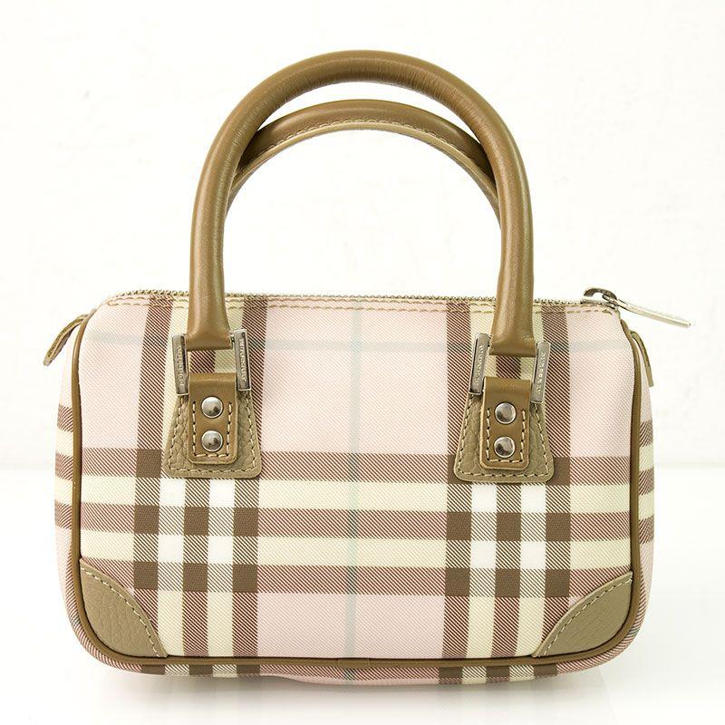 Burberry Pink Nova Check Candy Satchel Handbag   Speedy Bag ... 8dd5f5b855b6a
