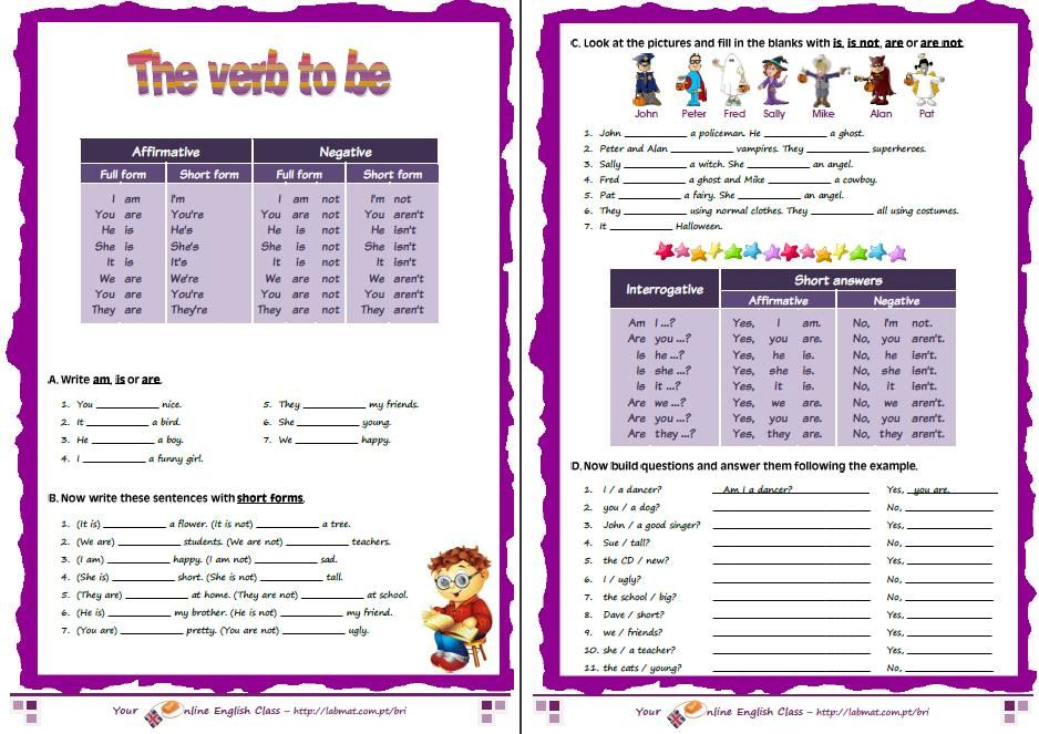 verb to be exercises for beginners | Teaching English to Adults ...