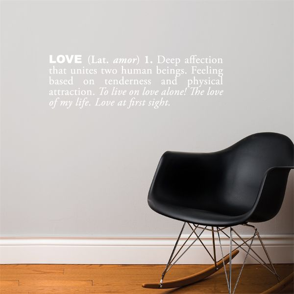 Celebrate You Love With The Decal In Either White Or Black Text
