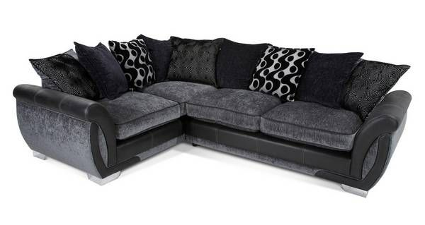 Shannon Right Hand Facing 3 Seater Pillow Back Corner Sofa Bed Talia Dfs Dfs Corner Sofa Bed Black And Grey Corner Sofa Dfs Leather Corner Sofa