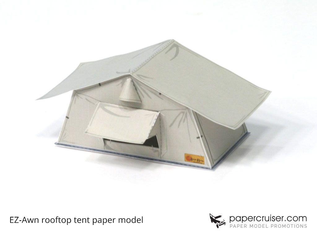 Rooftop tent paper model