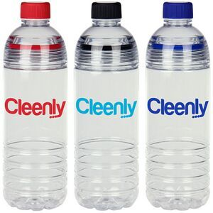 "Two ways to open! Easy 2 Clean 24 Oz Tritan Bottle Open the regular, small lid to drink or unscrew the top portion of the bottle to easily add ice, drink mixes, or to clean. Colorful silicone insets in lids prevent leaks and are easily removed for cleaning. BPA free.  9 3/8"" H"