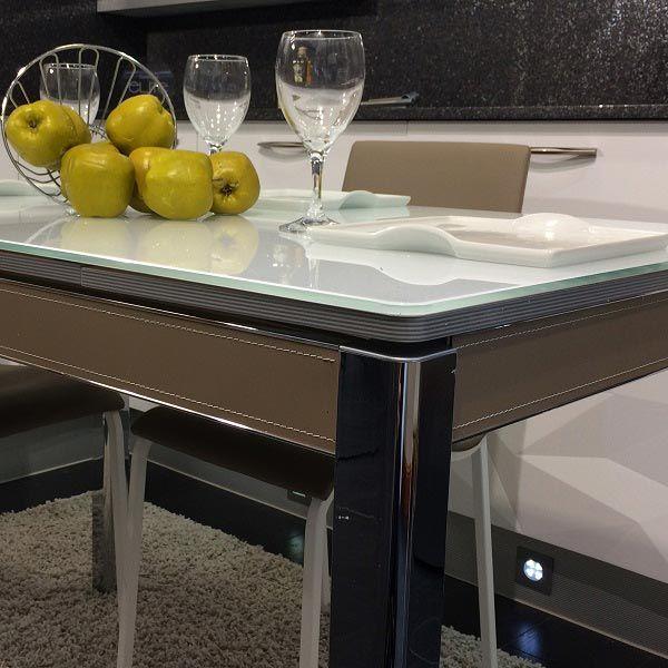 Mesas de cocina con cantos redondos de diseño Divina, mesa moderna ...