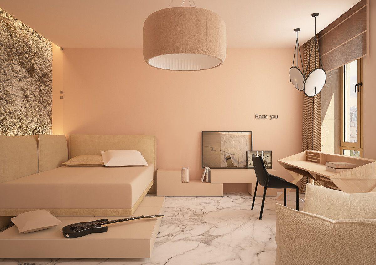 Фото из проекта: Дизайн светлой квартиры для семьи с ...