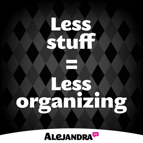 Kitchen Organization Alejandra: At The End Of The Day, If You Don't Like To Organize Or