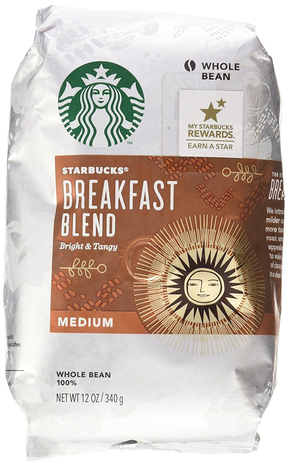 Starbucks Breakfast Blend Medium 12 Oz. Ground * Click on the image for additional details.
