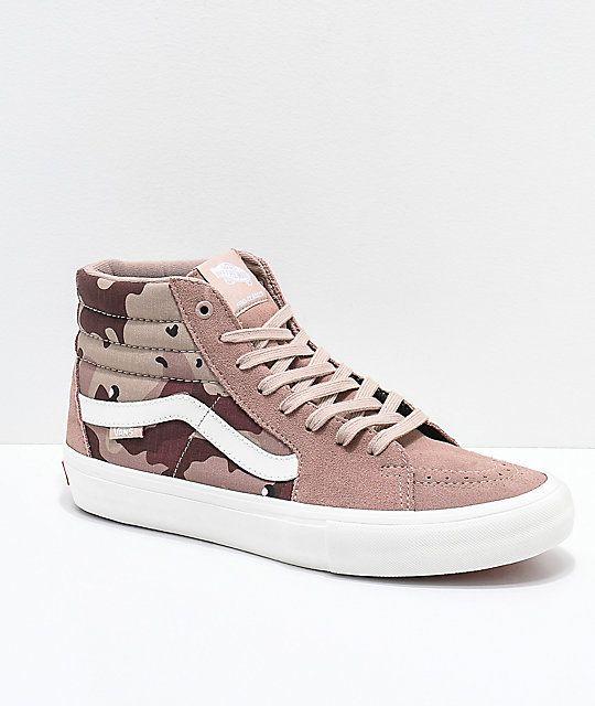 skate Hi Skate De Pro Desert Vans Sk8 Vans Zapatos Zapatillas Camo de zapatos FAq0nwxT